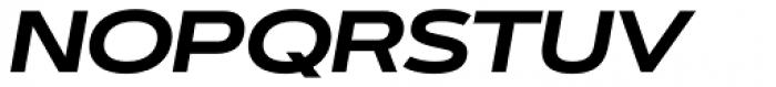 Artegra Sans Extended Bold Italic Font UPPERCASE