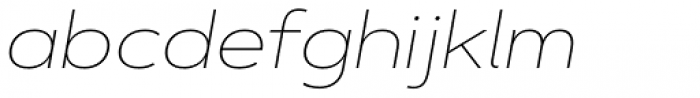 Artegra Sans Extended Thin Italic Font LOWERCASE