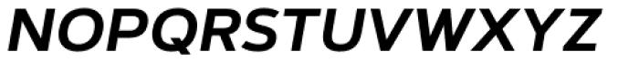 Artegra Sans SC SemiBold Italic Font LOWERCASE