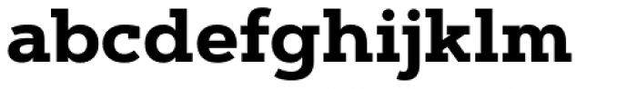 Artegra Slab Bold Font LOWERCASE