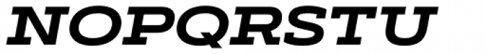 Artegra Slab Extended Bold Italic Font UPPERCASE