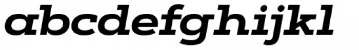 Artegra Slab Extended Bold Italic Font LOWERCASE