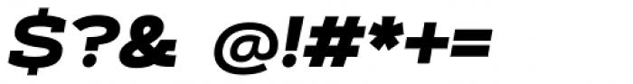 Artegra Slab Extended ExtraBold Italic Font OTHER CHARS