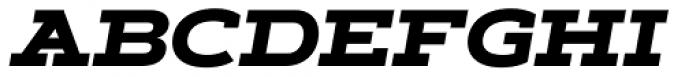 Artegra Slab Extended ExtraBold Italic Font UPPERCASE