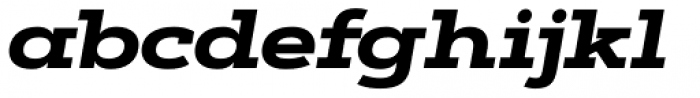 Artegra Slab Extended ExtraBold Italic Font LOWERCASE