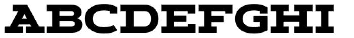 Artegra Slab Extended ExtraBold Font UPPERCASE