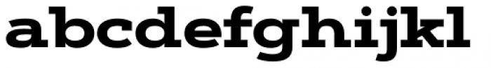 Artegra Slab Extended ExtraBold Font LOWERCASE