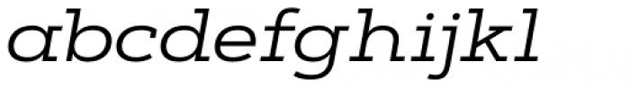 Artegra Slab Extended Regular Italic Font LOWERCASE