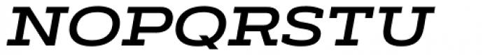 Artegra Slab Extended SemiBold Italic Font UPPERCASE