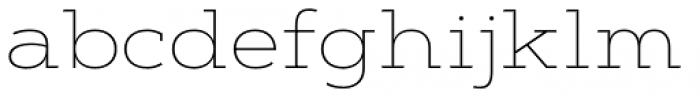 Artegra Slab Extended Thin Font LOWERCASE