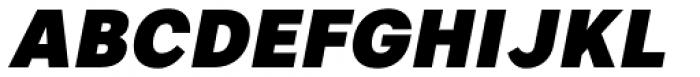 Artico Black Italic Font UPPERCASE