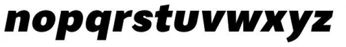 Artico Black Italic Font LOWERCASE