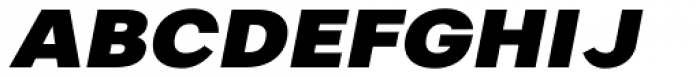 Artico Expanded Black Italic Font UPPERCASE
