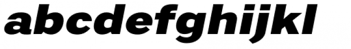 Artico Expanded Black Italic Font LOWERCASE