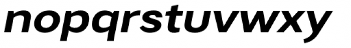 Artico Expanded Bold Italic Font LOWERCASE