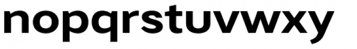 Artico Expanded Bold Font LOWERCASE