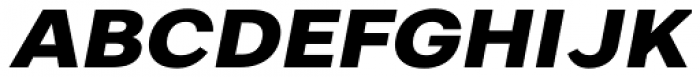Artico Expanded Extra Bold Italic Font UPPERCASE