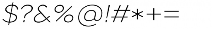 Artico Expanded Extra Light Italic Font OTHER CHARS