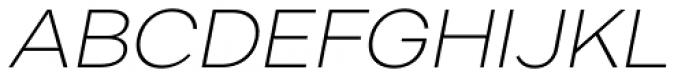 Artico Expanded Extra Light Italic Font UPPERCASE
