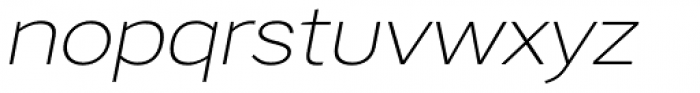 Artico Expanded Extra Light Italic Font LOWERCASE