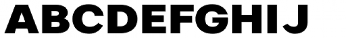 Artico Expanded Heavy Font UPPERCASE