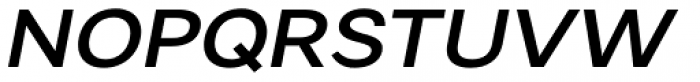 Artico Expanded Medium Italic Font UPPERCASE