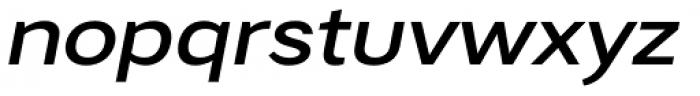 Artico Expanded Medium Italic Font LOWERCASE