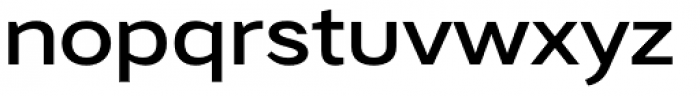 Artico Expanded Medium Font LOWERCASE