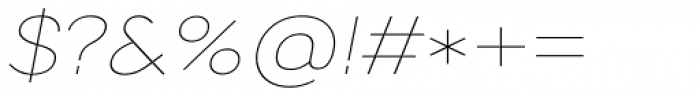 Artico Expanded Thin Italic Font OTHER CHARS