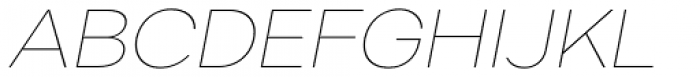 Artico Expanded Thin Italic Font UPPERCASE