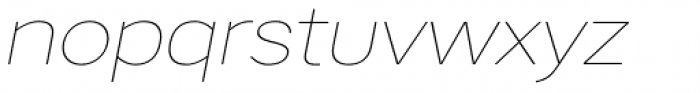Artico Expanded Thin Italic Font LOWERCASE