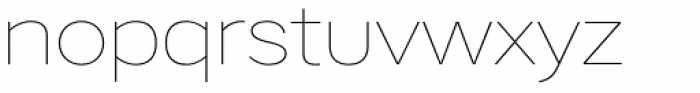 Artico Expanded Thin Font LOWERCASE