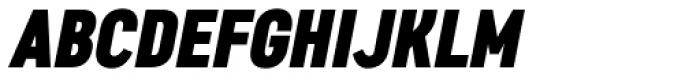 Artico Extra Condensed Black Italic Font UPPERCASE