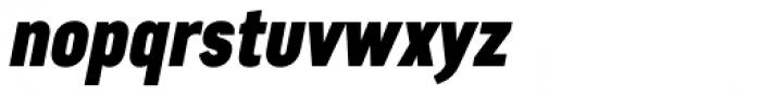 Artico Extra Condensed Black Italic Font LOWERCASE
