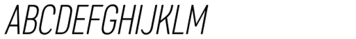 Artico Extra Condensed Extra Light Italic Font UPPERCASE