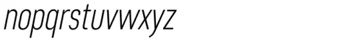 Artico Extra Condensed Extra Light Italic Font LOWERCASE