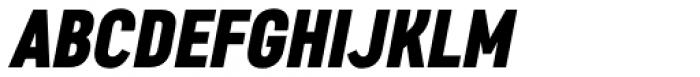 Artico Extra Condensed Heavy Italic Font UPPERCASE