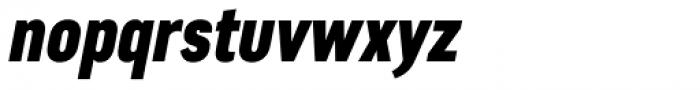 Artico Extra Condensed Heavy Italic Font LOWERCASE