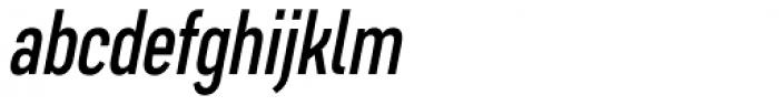 Artico Extra Condensed Italic Font LOWERCASE