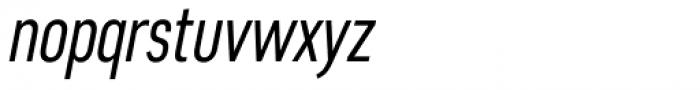 Artico Extra Condensed Light Italic Font LOWERCASE