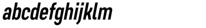 Artico Extra Condensed Medium Italic Font LOWERCASE
