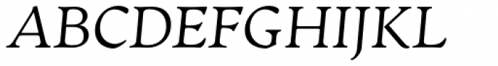 Artifex CF Extra Light Italic Font UPPERCASE