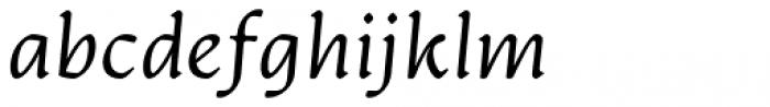 Artifex CF Extra Light Italic Font LOWERCASE