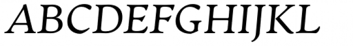 Artifex CF Regular Italic Font UPPERCASE