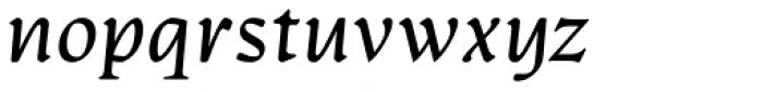 Artifex CF Regular Italic Font LOWERCASE