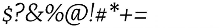 Artigo Pro Light Italic Font OTHER CHARS