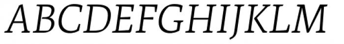 Artigo Pro Light Italic Font UPPERCASE