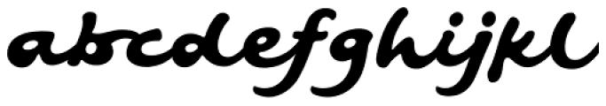 Artist Hand Regular Font LOWERCASE