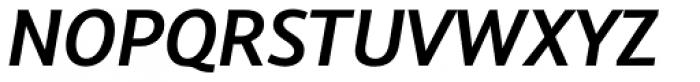 Arventa Sans Pro Bold Italic Font UPPERCASE