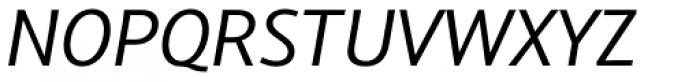 Arventa Sans Pro Italic Font UPPERCASE